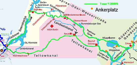 Karte Tour1/2009