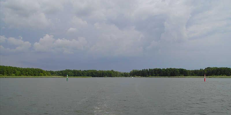 Gewitterwolken auf dem Weg nach Berlin