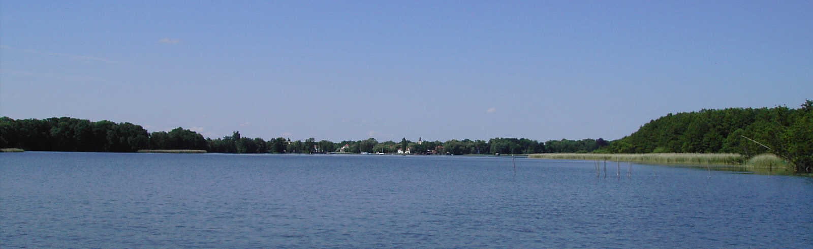 Blick auf Wustrau am Rupiner See