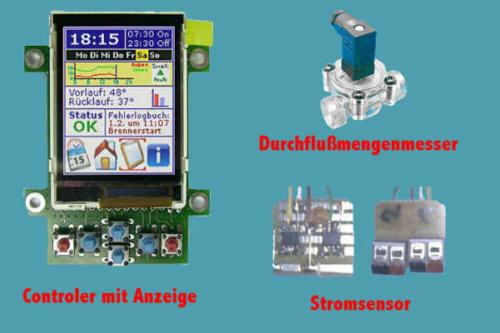 Controller mit Display und Sensorik