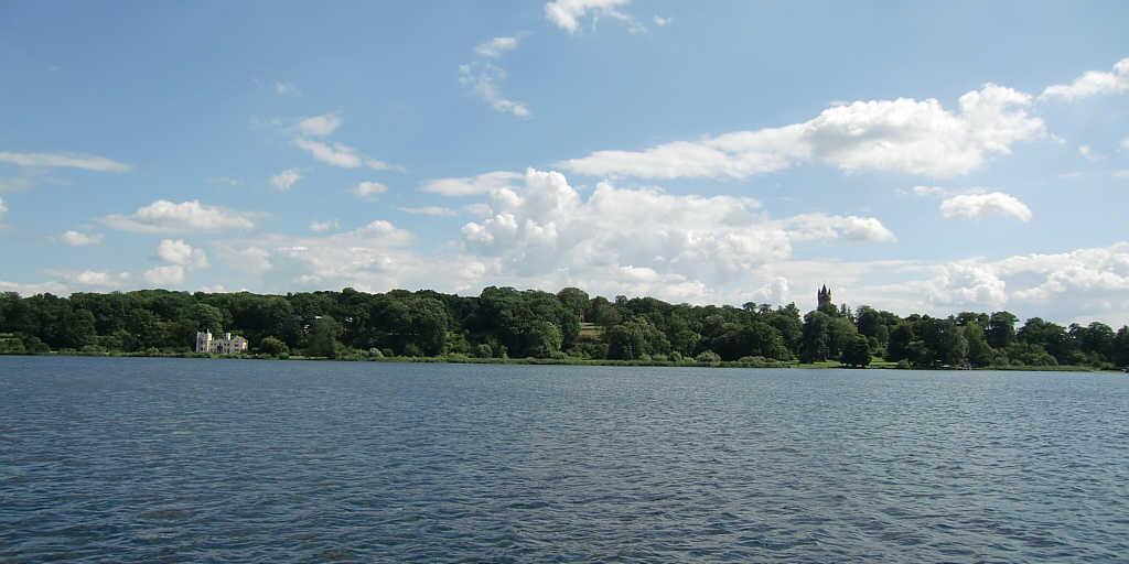 Babelberger Park mit Schloß und Flatowturm