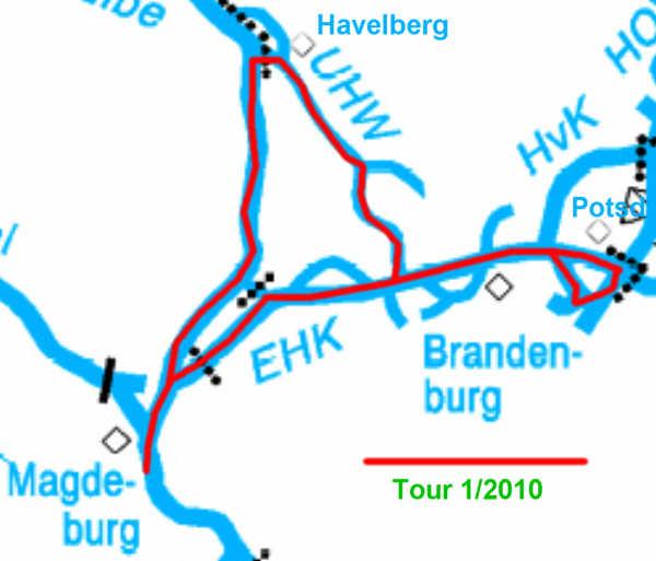 Kartenübersicht Tour1/2010