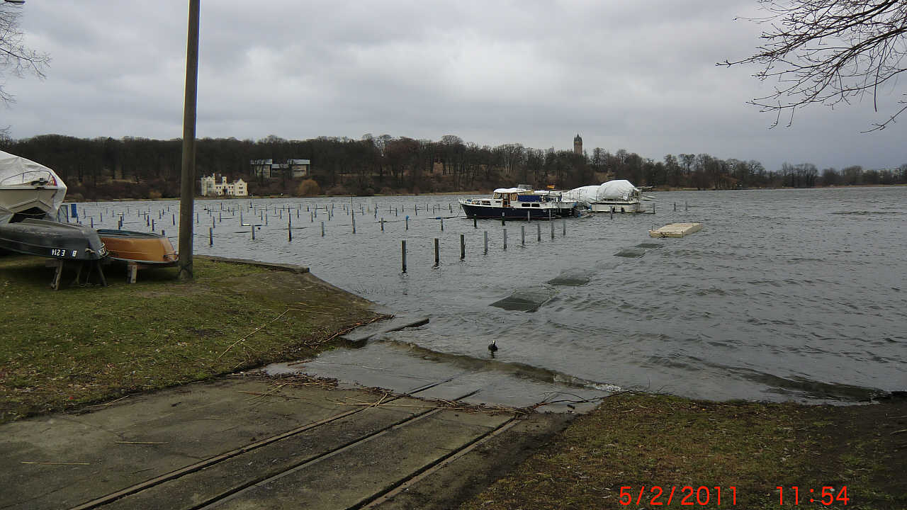 Hochwasser Pegel 171 cm b
